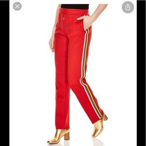 Sandro red Marley track pants